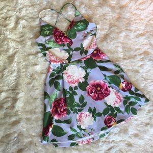 Asos floral skater dress